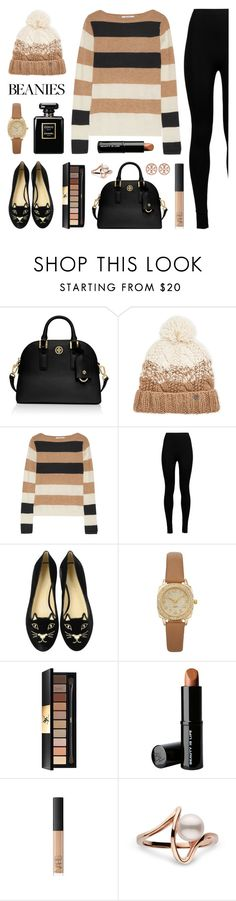 """""""Hat Head: Pom Pom Beanies"""" by lgb321 ❤ liked on Polyvore featuring Tory Burch, Turtle Fur, MaxMara, Wolford, Charlotte Olympia, Yves Saint Laurent, Beauty Is Life, beanies and pompombeanies"""