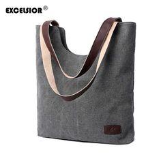 EXCELSIOR Vintage Women's Bag Shoulder Handbag Satchel Crossbody Tote female bag Purse Messenger beach shopping bags bolsas