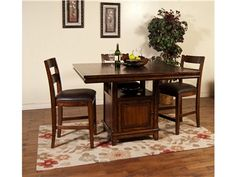 Shop for Sunny Designs Mango Counter Height Table, 1157WH, and other Dining Room Dining Tables at Ernies in Ceresco in Ceresco, NE.