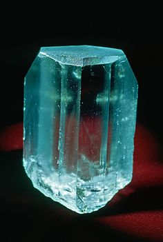 Topaz It's rare to have blue topaz occurring naturally.  It also looks like gemmy aquamarine.  It's gorgeous regardless.