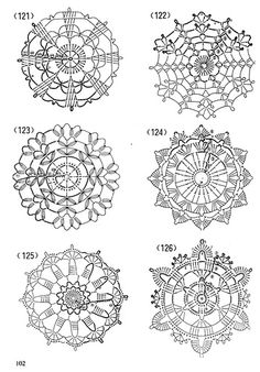 crochet magazine four Crochet Snowflake Pattern, Crochet Motifs, Crochet Snowflakes, Crochet Diagram, Doily Patterns, Crochet Chart, Crochet Squares, Thread Crochet, Crochet Doilies