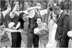 Dallas wedding photographer, Mary Fields Photography, Myers Park, McKinney, TX, black and white wedding pictures, bridal party pictures, fall outdoor wedding pictures