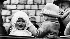 Little Princess Elizabeth takes a ride on the grounds of Windsor Castle in 1927 with her cousin, Gerald Lascelles. Gerald lived at Goldsborough Hall throughout the 1920s.