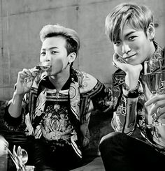 G-Dragon (GD, Kwon Ji Yong) and TOP (Choi Seung Hyun) ♡ #BIGBANG #GD