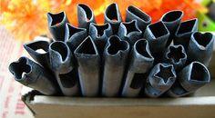Künstler-Versorgungsmaterial - 5mm geformte Blume Punch Leder Blume Kampf schlagen 20 Blumen - Pmc Werkzeuge