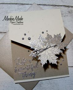 MackieMade Paper Creations: The Card Concept Challenge Tarjetas Stampin Up, Stampin Up Cards, Fancy Fold Cards, Folded Cards, Fall Cards, Holiday Cards, Leaf Cards, Printable Christmas Cards, Thanksgiving Cards