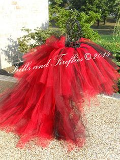 Queen of Hearts Tutu, Black and Red Queen of Hearts Tutu..Bachelorette Parties, Halloween, MANY COLORS AVAILABLE..Baby to Adult Sizes