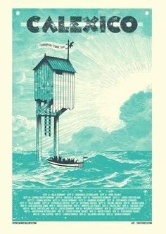 Calixico European Tour 2012  By Switchopen. http://posterhoe.tumblr.com/
