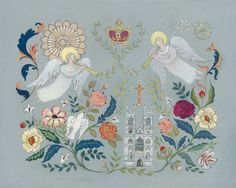 Painting by Rah Rivers which was commissioned for the Floral Abbey Range