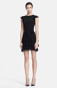 RED Valentino Ruffled Knit Dress available at #Nordstrom