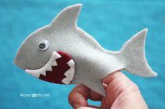 Felt Shark Finger Puppet - Repeat Crafter Me