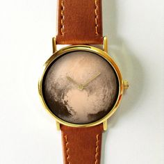 Pluto Watch, Planets, Outer Space, Solar Sytem, Mens Watch, Watches for Men, Leather Watch, Wrist Watch, Galaxy, Gift for Men, Space Jewelry Ships Worldwide Type: Quartz Adjustable from 16.5 cm to 20.3 cm (6.50 inches to 8.0 inches) . If you want additional holes for adjustment, please make a note upon checkout or send me a convo Display: Analog Dial Window Material: Glass Case color: silver , gold (please choose upon checkout) Case Material: Metal Case Diameter: 4.0 cm (1.57 inches) Case…
