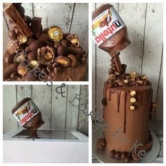 Nutella-themed cake