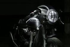The Triumph Bonneville motorcycle called Yunque I is a personalized motorcycle with Triumph parts manufactured by hand by Tamarit Motorcycles. Triumph Bonneville T120, Triumph Scrambler, Motorcycles, Ideas, Templates, Projects, Thoughts, Motorbikes, Crotch Rockets