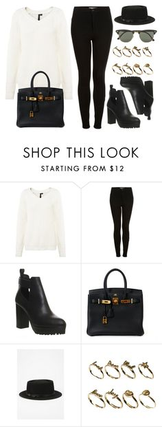 """Style #11322"" by vany-alvarado ❤ liked on Polyvore featuring Topshop, Office, Hermès, Deena & Ozzy, ASOS and Ray-Ban"