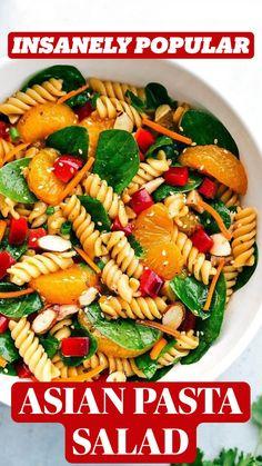Asian Pasta Salads, Chicken Salad Recipes, Chicken Pasta, Fruit Salads, Dinner Salads, Pizza Recipes, Beef Recipes, Dinner Recipes, Gastronomia
