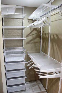 Ideas storage room closet apartment therapy for 2019 Walk In Closet Ikea, Organizing Walk In Closet, Ikea Closet Organizer, Wardrobe Organisation, Wardrobe Storage, Closet Bedroom, Closet Storage, Bedroom Storage, Closet Organization