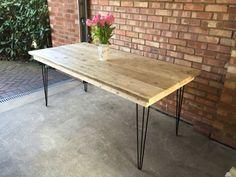 Scaffold plank board table urban industrial by Theoldwoodhut Scaffold Table, Scaffold Boards, Urban Industrial, Industrial Style, Kitchen Dining, Dining Room, Dining Table, Scaffolding, Plank