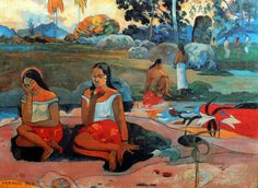 Paul Gauguin - Post Impressionism - Tahiti - Joie de se reposer, douces rêveries.  Be Sure To Visit:  http://universalthroughput.imobileappsys.com/