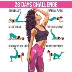 Transform the body just in 28 days! The workout below will help you to achieve desired results in 1 month! Try and prepare the body to summer! body workout at home 30 day Fitness Workouts, Gym Workout Videos, Body Workout At Home, Fitness Workout For Women, Sport Fitness, Body Fitness, Easy Workouts, At Home Workouts, Fitness Motivation