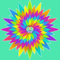 spinning colors peace sign