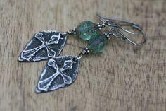 Rustic Bohemian  Celtic Cross  earrings n227 artisan by Tribalis