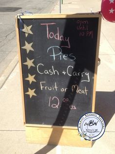 todays pies Chalkboard Signs, Art Quotes, Creative