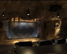 Man cave/theatre room Love this idea but would make it Superman's Fortress of Solitude