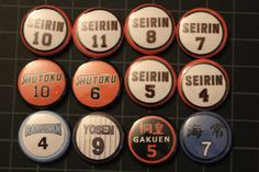 Kuroko no Basket  Buttons by MochaDonut on Etsy, $1.00 I need this