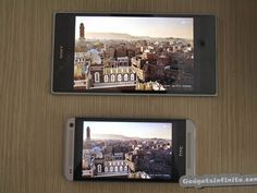 Sony Xperia Z Ultra VS HTC One Display