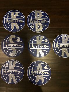 Volleyball locker tags