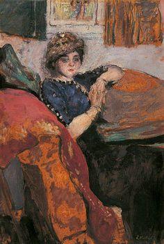 Édouard Vuillard - Mademoiselle Nathanson dans l'atelier de l'artiste