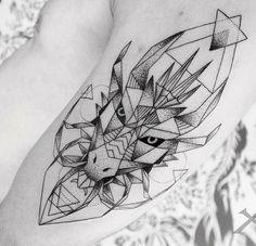 Geometric Dragon tattoo