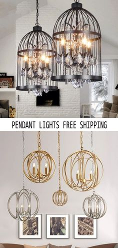 Pendant lighting for all occasions such as living room, bedroom, dining room, etc., to add temperature and color for your family, Save 50% (or more) now when you shop at raypom.com. Modern Pendant Light, Pendant Lighting, Chandelier, Modern Hanging Lights, Wall Lights, Ceiling Lights, Light Fittings, Bathroom Interior, Cool Kitchens