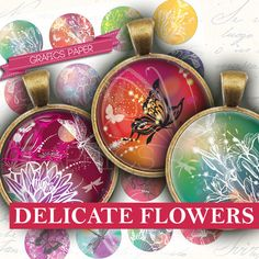 Images Flower Flowers Circles floral ornaments by GraphicsPaper
