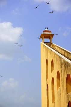 The manmade humongous structures at the Janter Manter observatory, Jaipur, #rajasthan. Pic by Thushanthi Ponweera