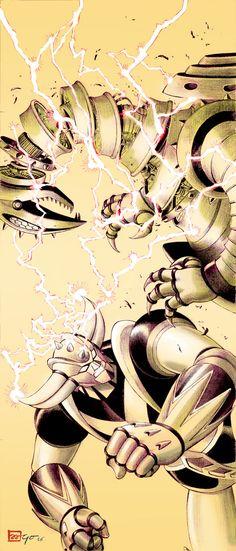 Ufo robot Grendizer, Goldrake, Goldorak, Atlas ufo robot Andrea Accardi X Go Nagai