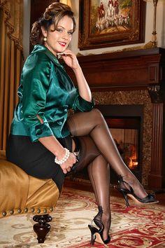 Black Fully-Fashioned Stockings $29.99