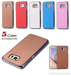 Cell Phone Cases Covers For Iphone 6/6plus Samsung Galaxy S6/S6 Edge Fashion Luxury Retro Ultra Thin Slim Carbon Fiber Pattern Tpu Case Back Cover Customize Your Own Cell Phone Case From Mayiandjay, $1.3