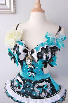 Wondering in wonderland custom one piece alice in wonderland inspired costume 34C-34D rave bra dollz for days
