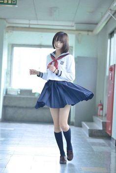 Girl in Uniform 😘 Japanese High School, Japanese School Uniform, Cute Japanese Girl, School Uniform Girls, Girls Uniforms, High School Girls, School Girl Japan, Japan Girl, Cute Asian Girls