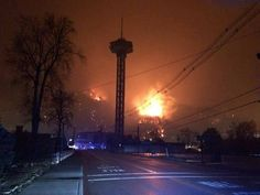 The Space Needle in downtown Gatlinburg Wildfire November 2016