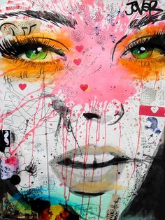 "Loui Jover; Ink, 2013, Mixed Media ""quite frankly"""