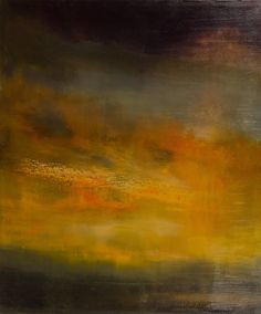 Sky Light 2 - Print. Sky Light 2 by Maurice Sapiro captivates viewers with warm shades of gold contrasting with cool shades of teal and grey creating a surreal depiction of light breaking through the sky.