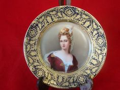 Marked with Royal Vienna beehive, Wagner Portrait plate