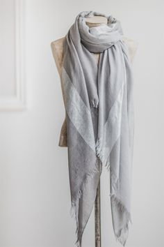 The Little Black Dress Boutique Limited. Tutti & Co Grey + Silver Tonal Scarf - S096