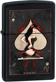 CT Ace Pinup - Black Matte Zippo Lighter Lighter at AllPosters.com