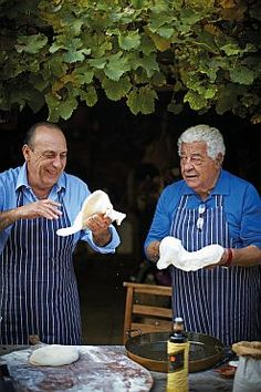 Win a copy of Two Greedy Italians Eat Italy by Antonio Carluccio and Gennaro Contaldo Nowhere is food as much a part of everyday life as Italy – a country whose unique topography has resulted in. Italian Chef, Italian Wine, Italian Cooking, Italian Style, Italian Dining, Vintage Italian, Chicken White Wine Sauce, Italian People, Pizzeria