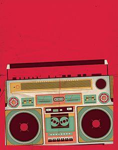 빨간 레트로 라디오 배경 Rain Wallpapers, Cute Wallpapers, Pop Art, Retro, Radio Design, Indian Folk Art, Hip Hop Art, Cyberpunk Art, Posca