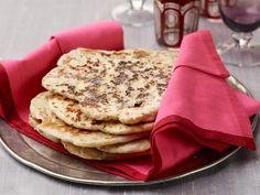 Get Naan: Indian Oven-Baked Flat Bread Recipe from Food Network